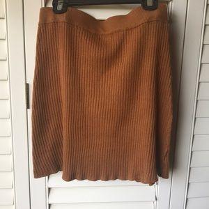 Tan Stretchy Body Fitting Mini Skirt